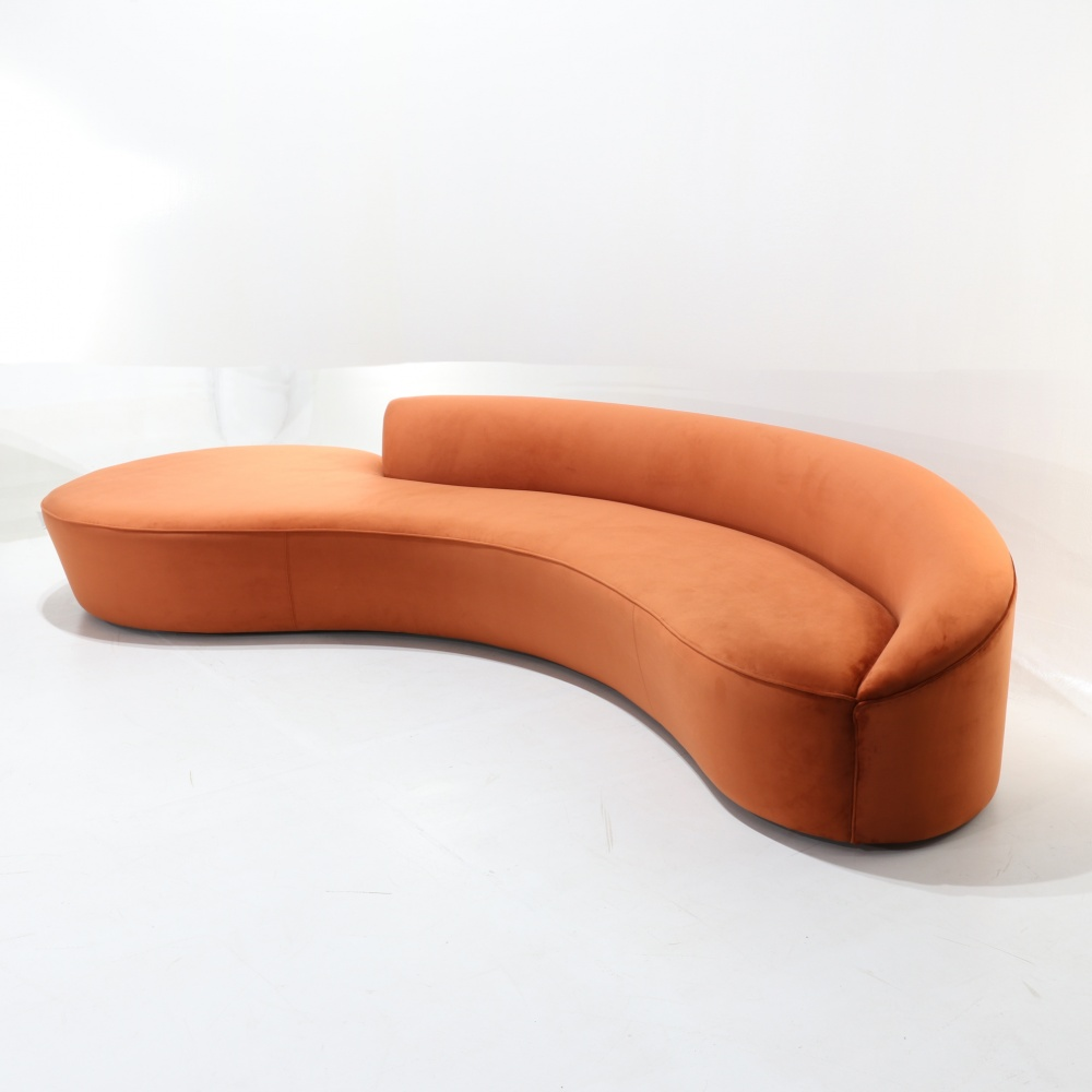 Serpentine wood-based sofa version 2