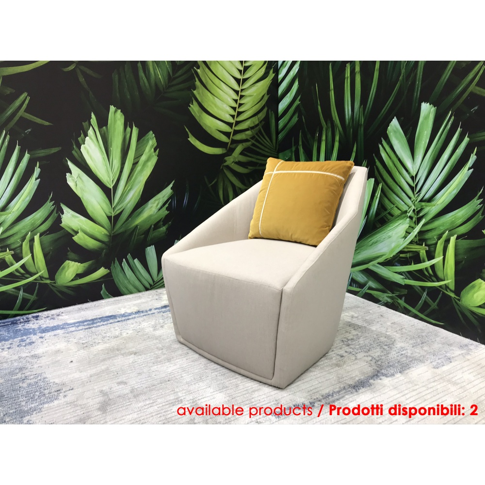 ARCADIA ARMCHAIR with fabric covering