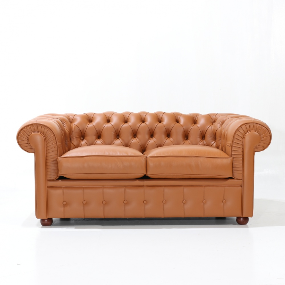 CHESTERFIELD SOFA 2 SEATS - classic padded design with capitonnè finish