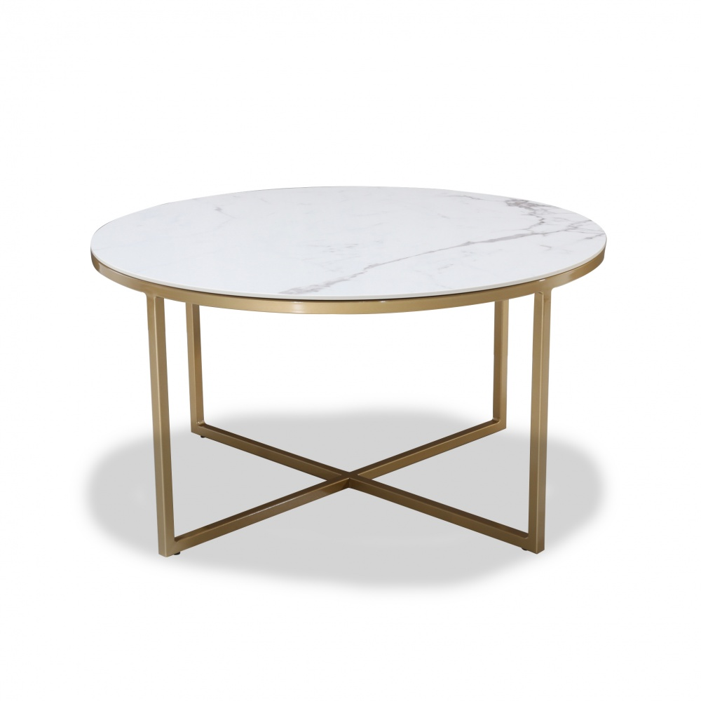 IDA COFFEE TABLE - with ceramic top and metal base
