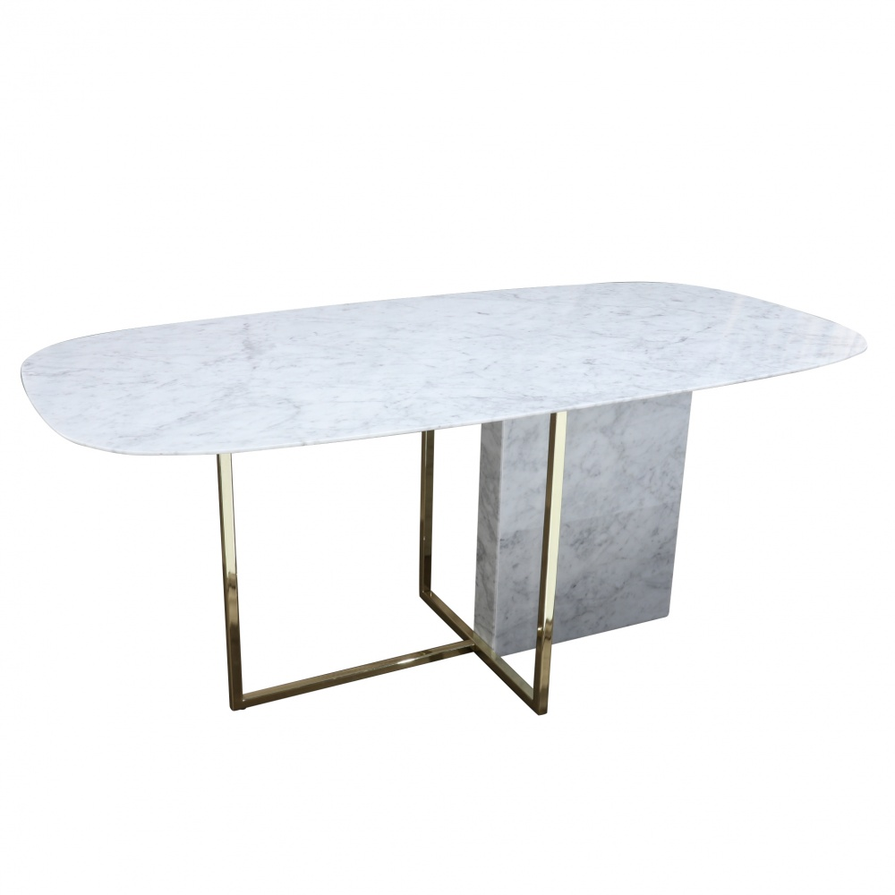 TABLE ARIZONA AVEC PLATEAU EN MARBRE BIANCO CARRARA