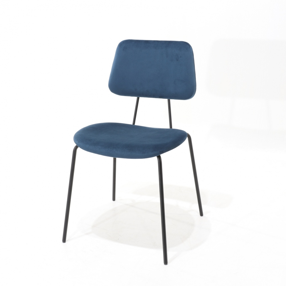 Padded ARIANNA chair - dining chair with metal base and padded seat
