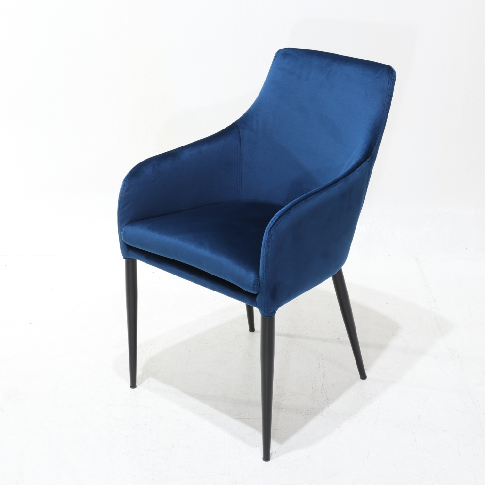 LIDIA chair WITH ARMRESTS - dining chair entirely covered in fabric