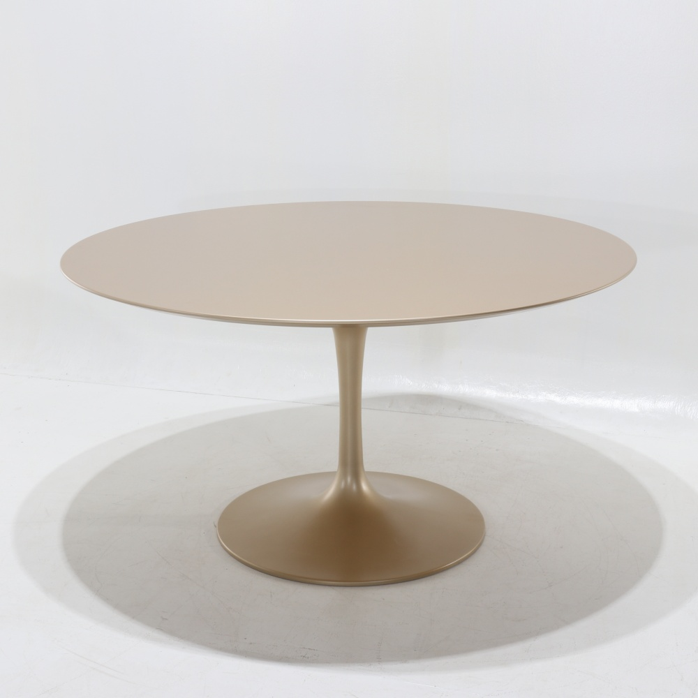 WING TABLE  GOLD LAMINATE LACQUERED TOP