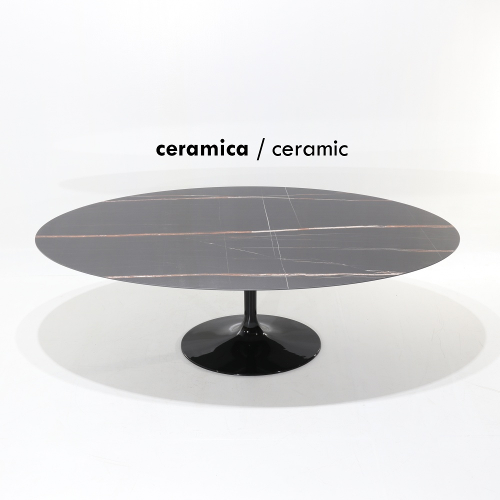 WING TABLE with marble effect ceramic top - dining table