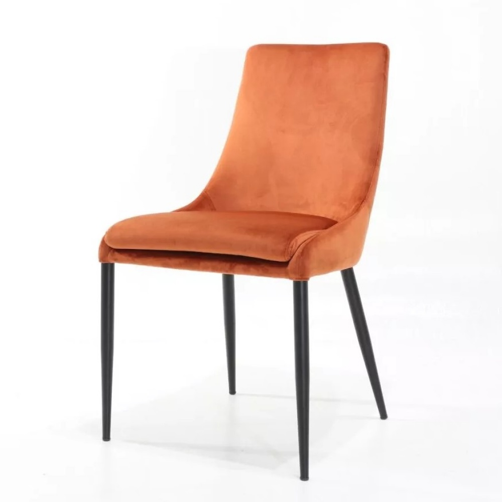 LIDIA chair - dining chair entirely covered in fabric