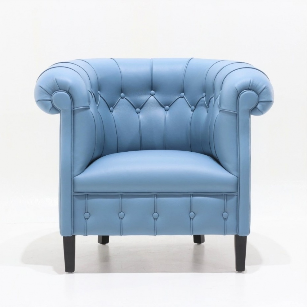 FUMOIR ARMCHAIR - classic armchair with capitonnè finish