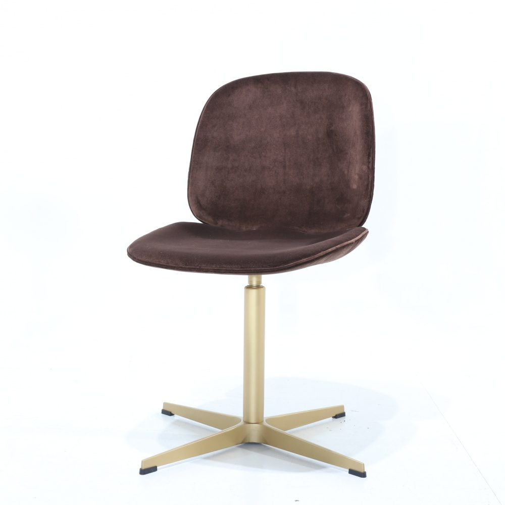 TOFFEE OFFICE CHAIR - swivel office chair with gold chrome base