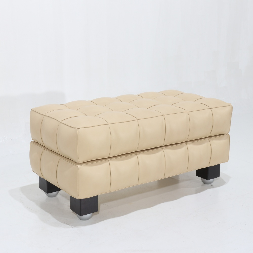POUF KUBUS - leather pouf with container