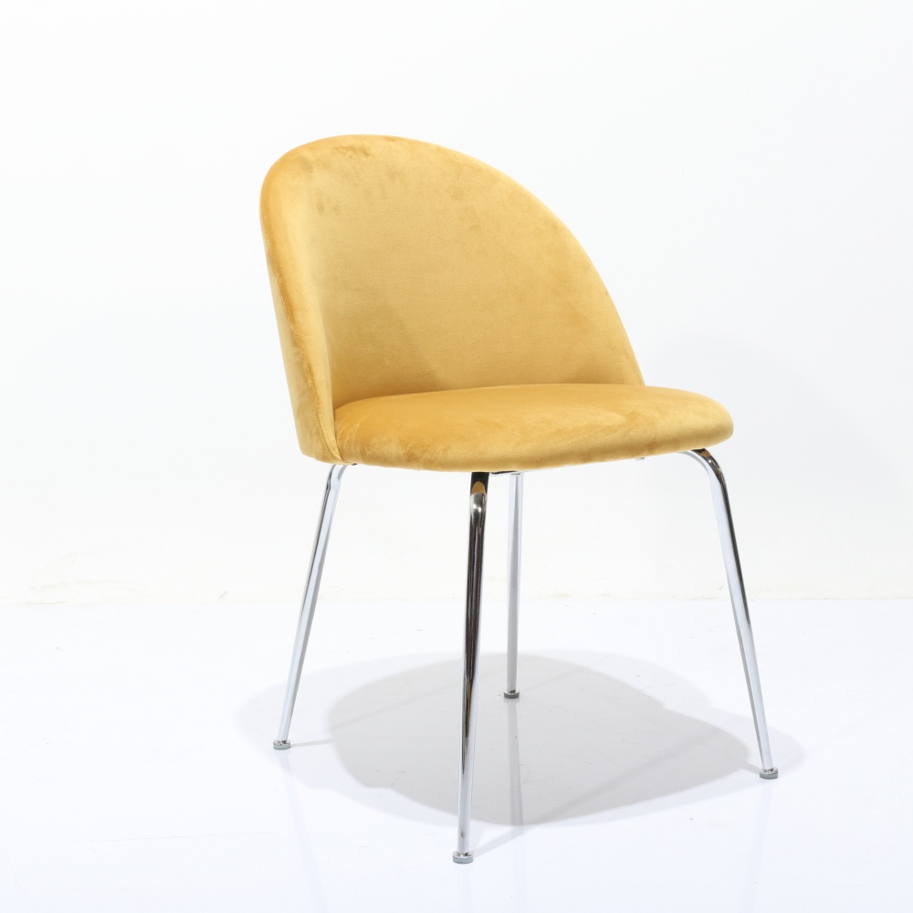 CHAIR MABLE CROMO - modern design chair upholstered in velvet leather fabric