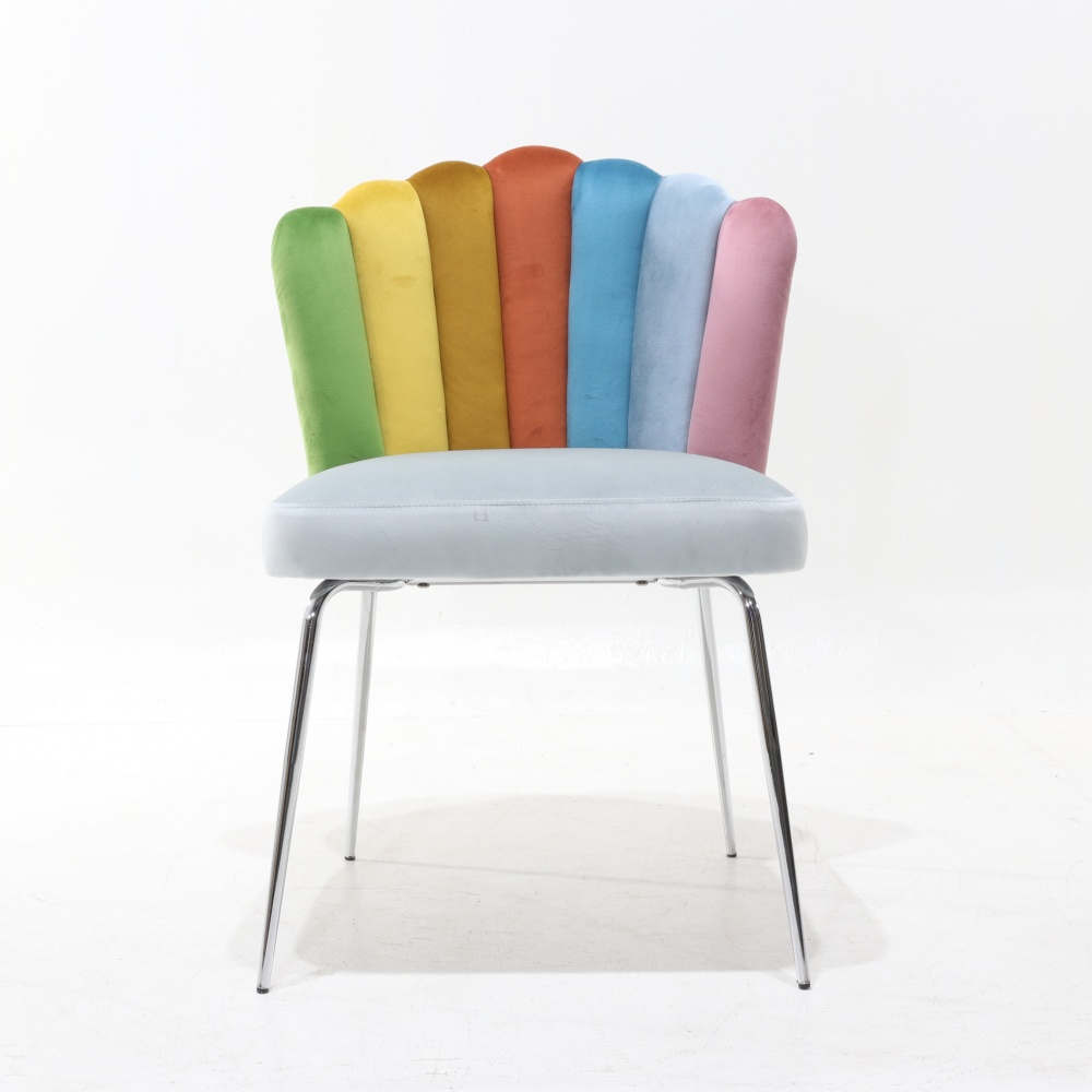 chair PERLA ARCOBALENO - colourful quilted dining chair