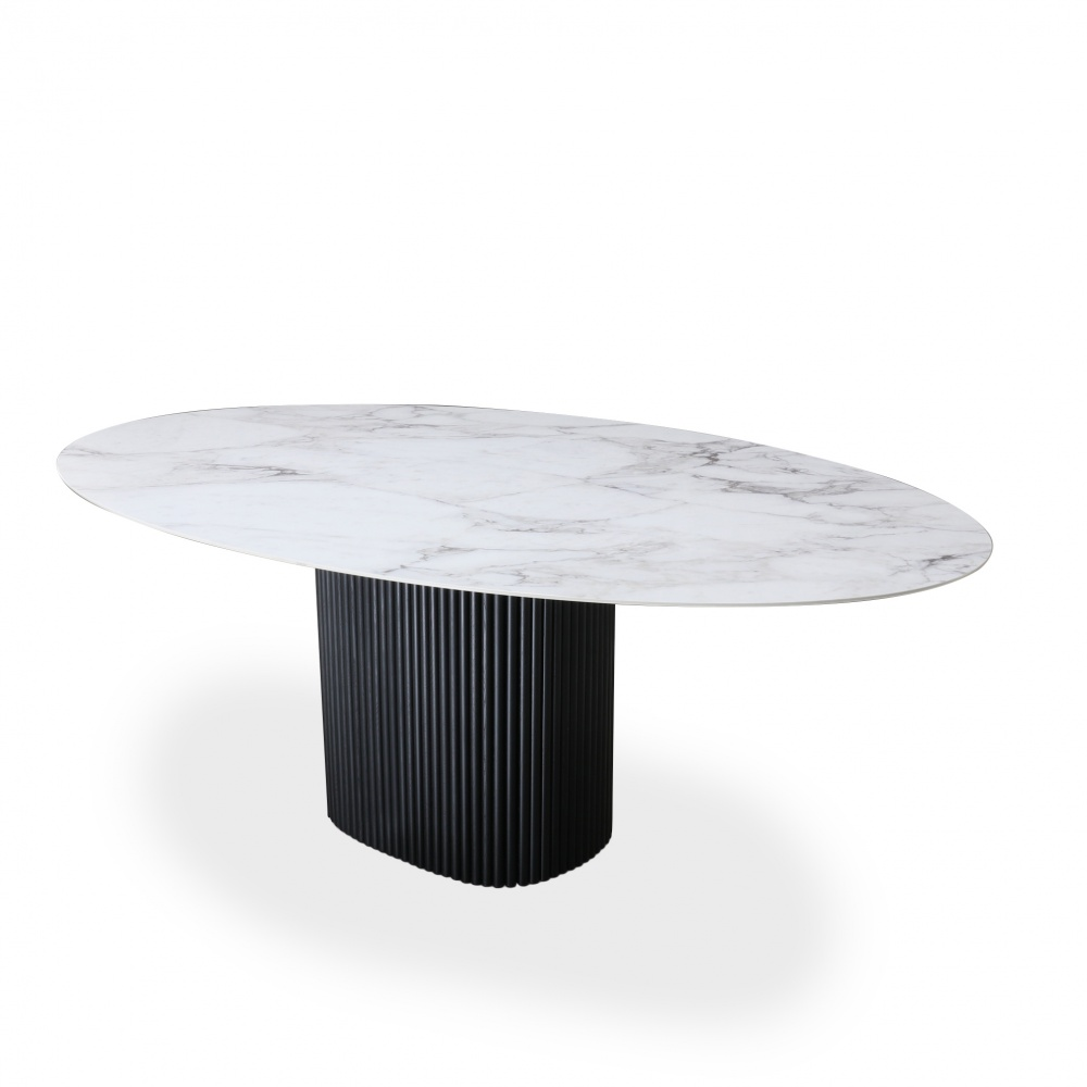 TABLE MILLERIGHE-DINING TABLE WOODEN BASE AND OVAL TOP