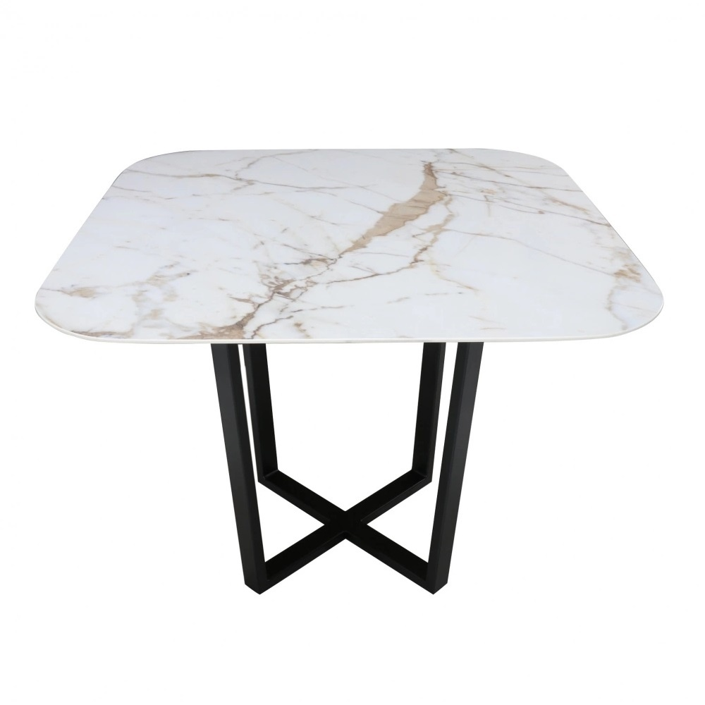 KROSS Square TABLE with marble effect ceramic top