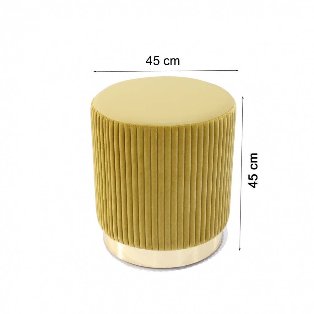 POUF MARY - round footrest with metal base