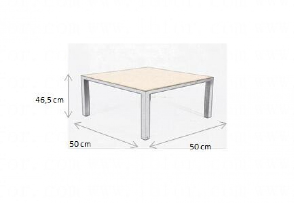 Small Table Constance with Square Top