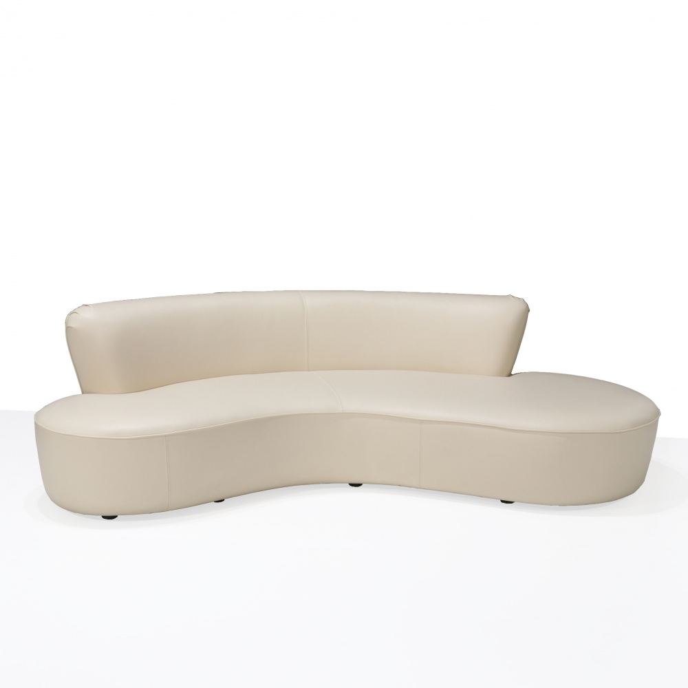 Serpentine sofa - wavy-shaped sofa and low back
