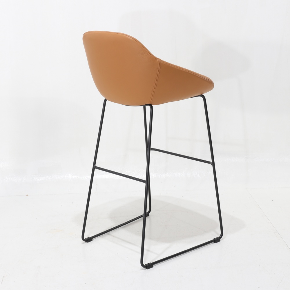 TOLONE STOOL - counter stool with lacquered base