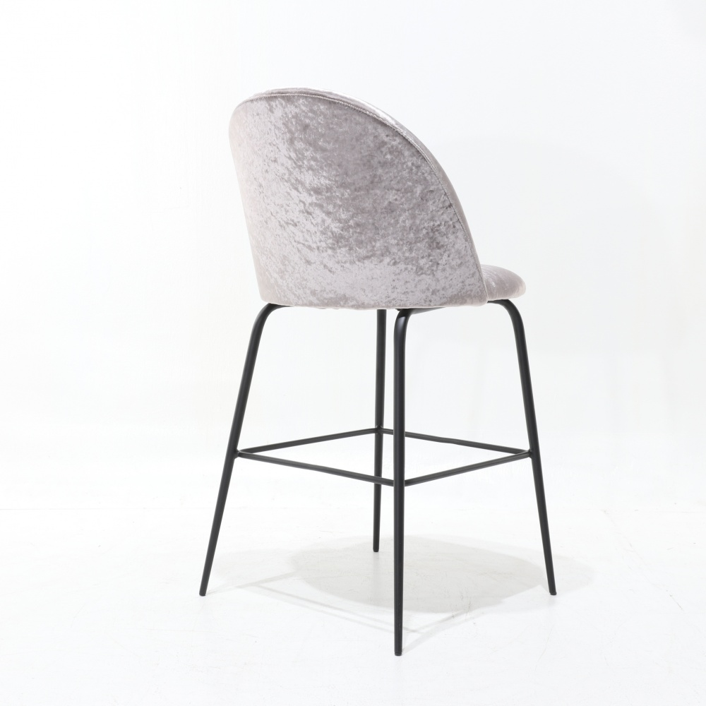 MABLE STOOL - bar stool with upholstered back and seat