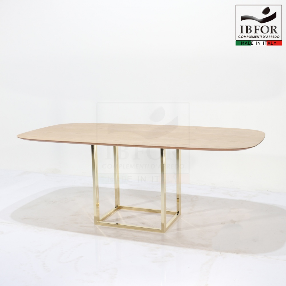 OREGON table - dining table with laminate top and steel base