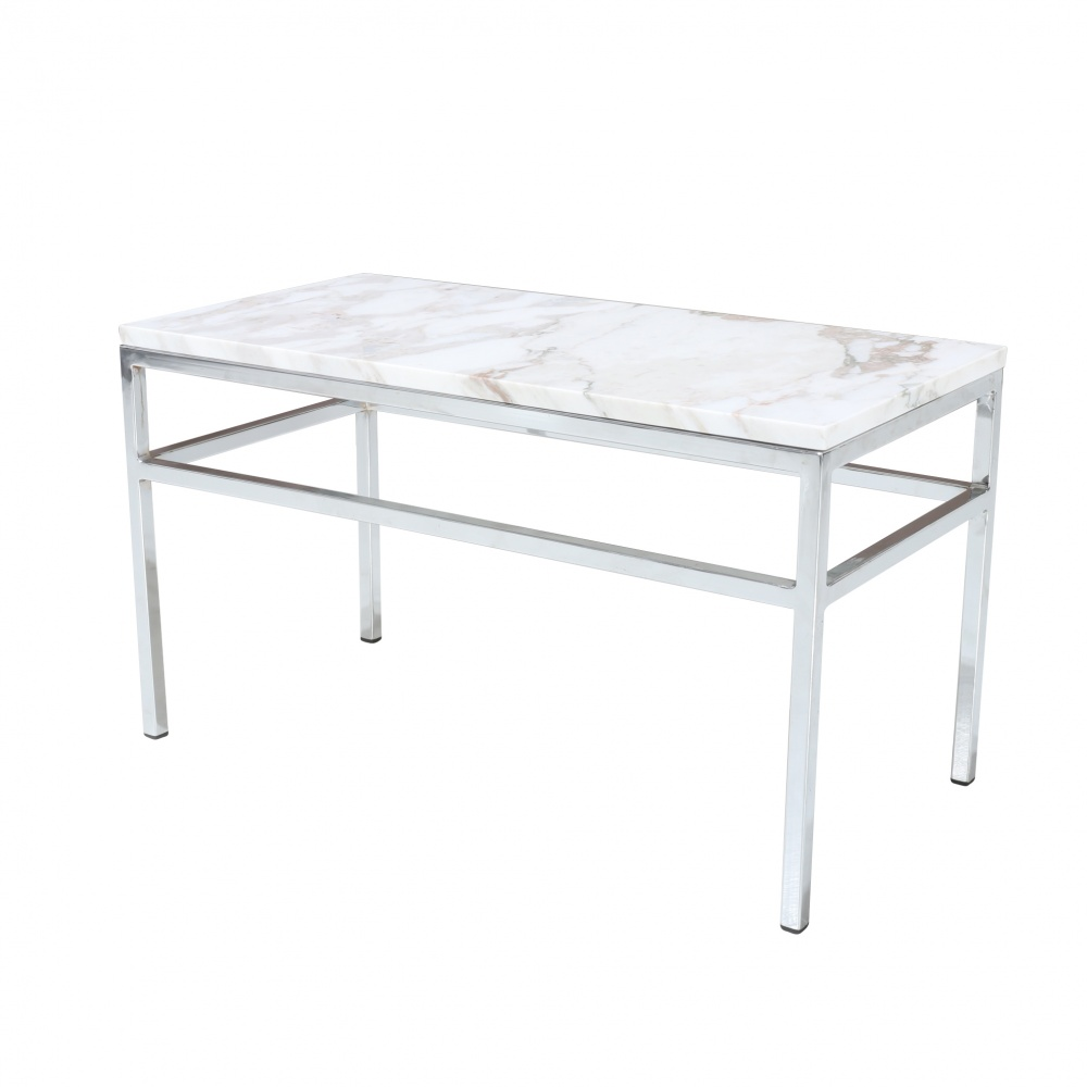 ARNI coffee table - steel day table and carrara marble top