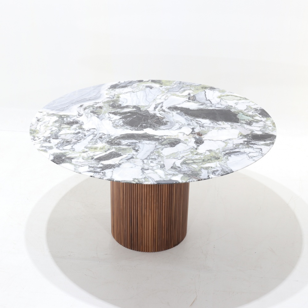 TABLE MILLERIGHE-TABLE A MANGER BASE EN BOIS ET PLATEAU EN MARBRE