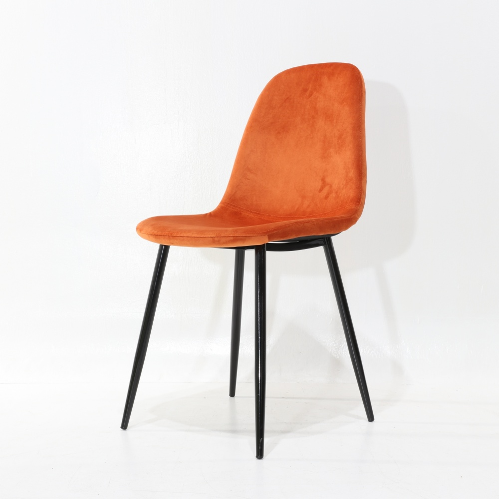 AURORA CHAIR - dining chair with high back, padded and metal legs