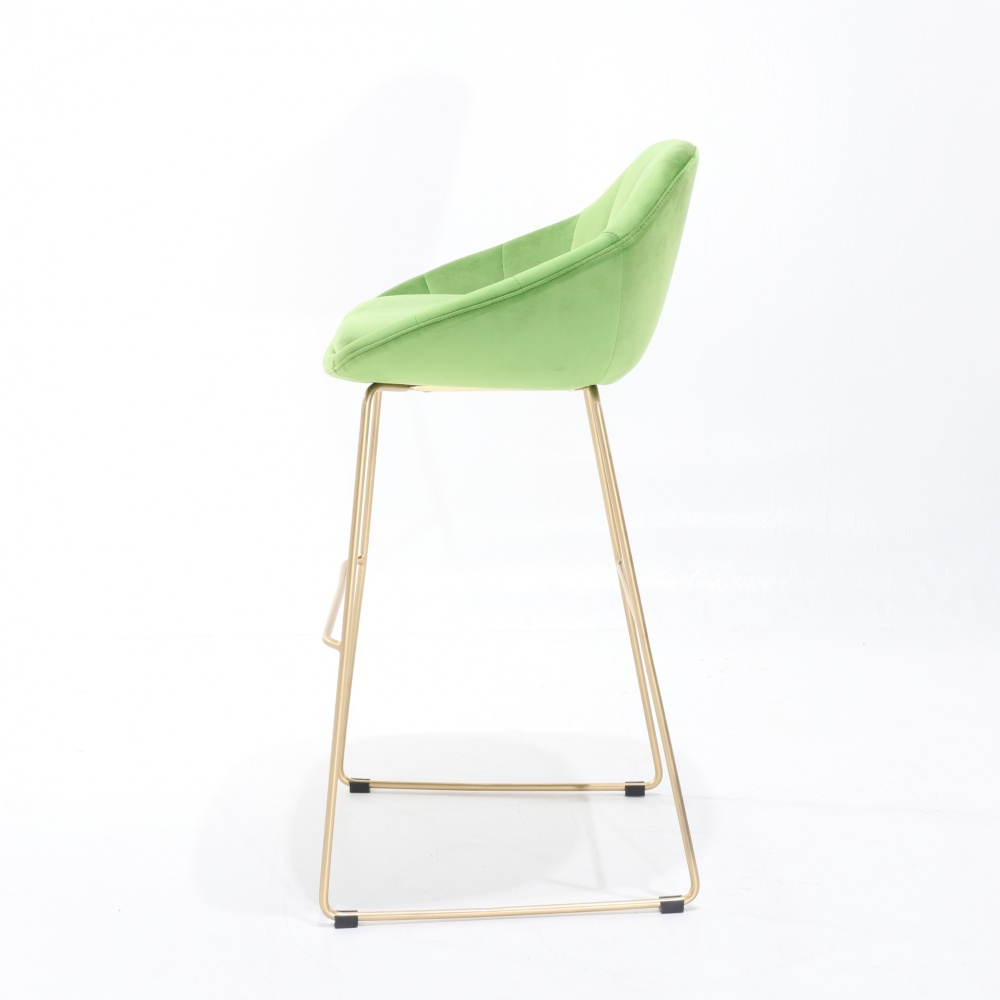 TOLONE STOOL - counter stool with gold chrome base