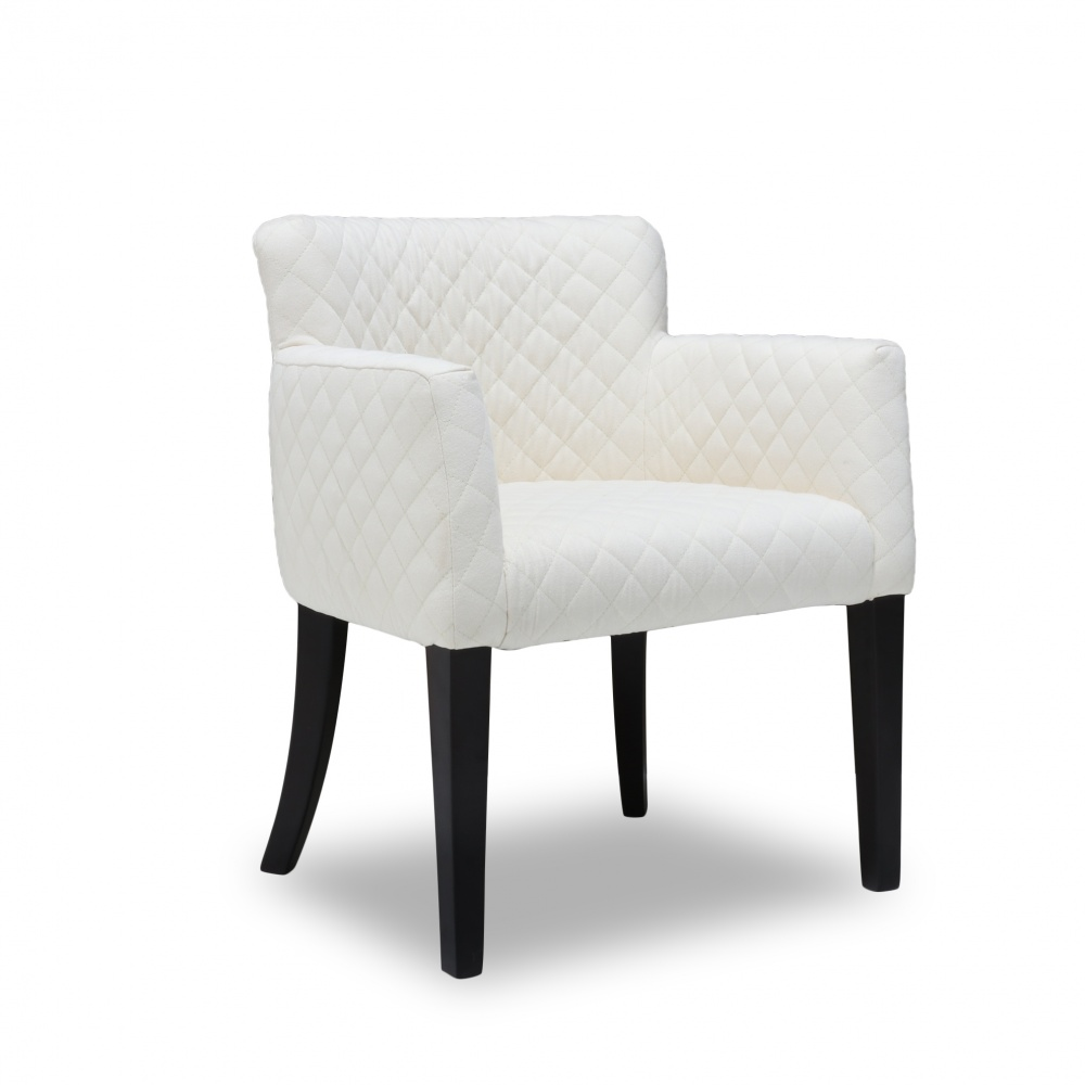 GREGOR chair - dining chair with armrests and quilted padding