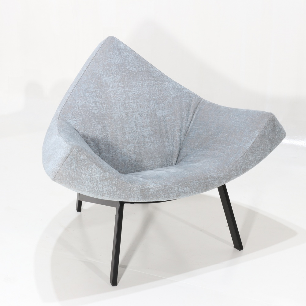 VERONICA armchair - large and cozy modern design armchair with armrests and fabric covering