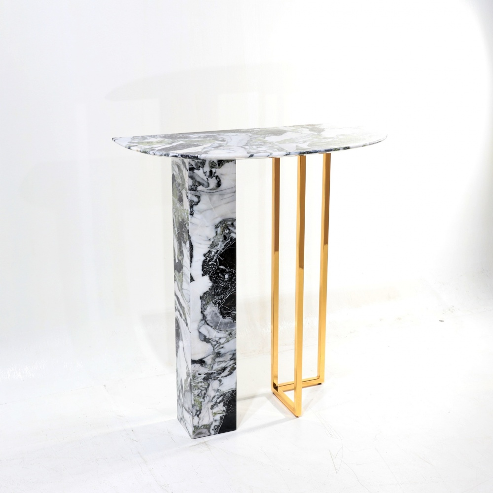 CONSOLE ALBA - IN MARBLE AND METAL