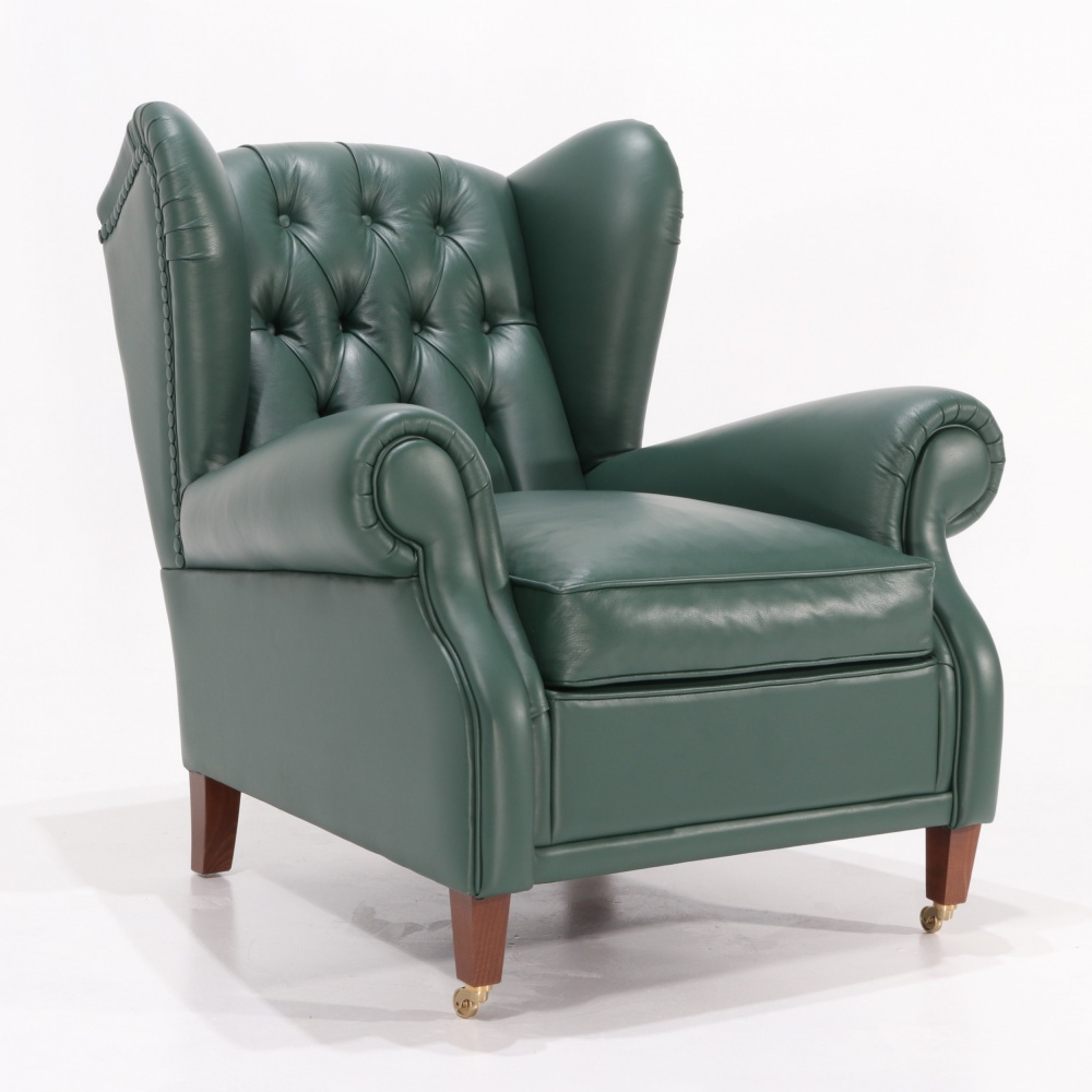 BERGERE LEATHER ARMCHAIR version 2