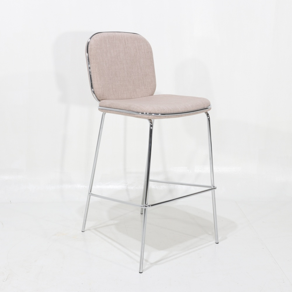 VALERIA stool - counter stool with padded structure and steel legs