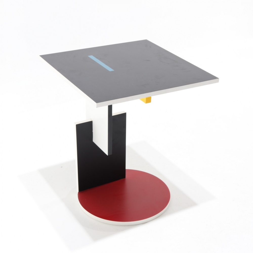 TABLE BASSE RED AND BLUE