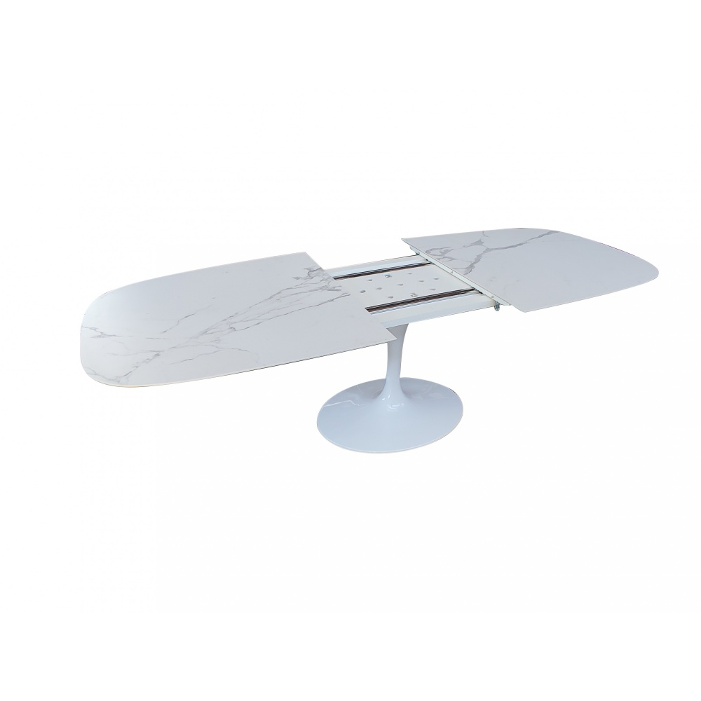 WING EXTENDING BARREL TABLE - EXTENDING DESIGN DINING TABLE WITH CERAMIC TOP