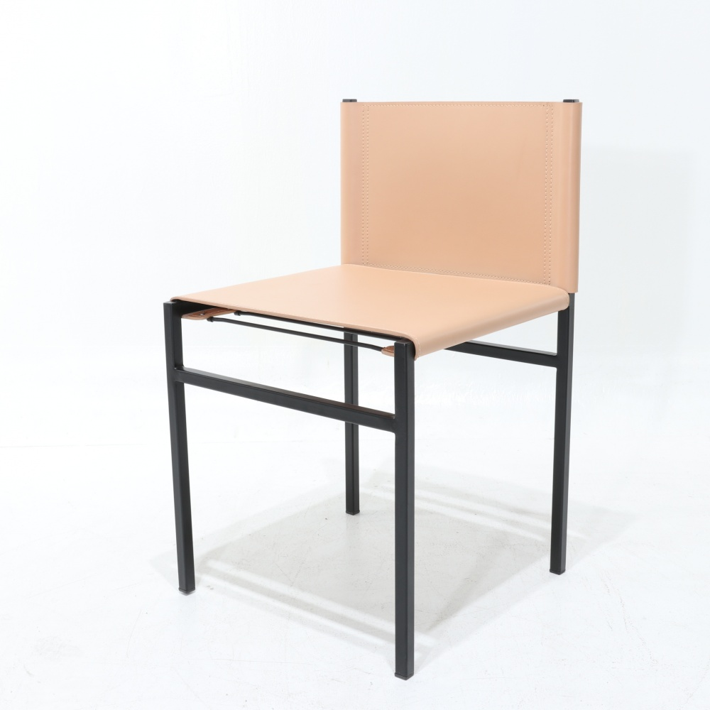 MART CHAIR - LEATHER AND METAL CHAIR