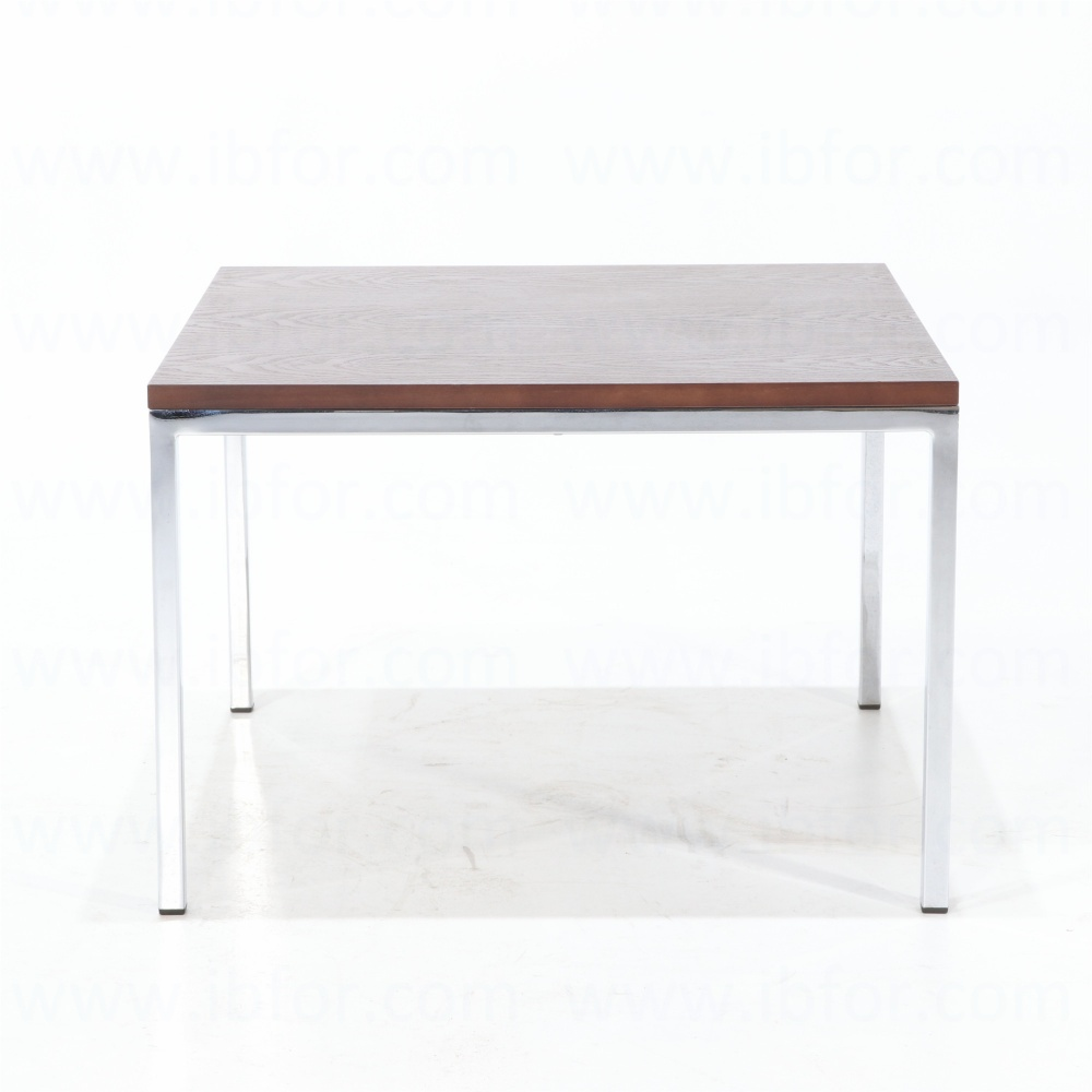 FLAVIO coffee table - day table with wooden top and steel legs