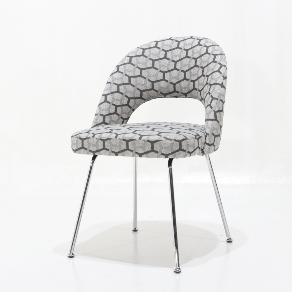 ESSE chair with metal legs - dining chair with steel legs and fabric upholstery