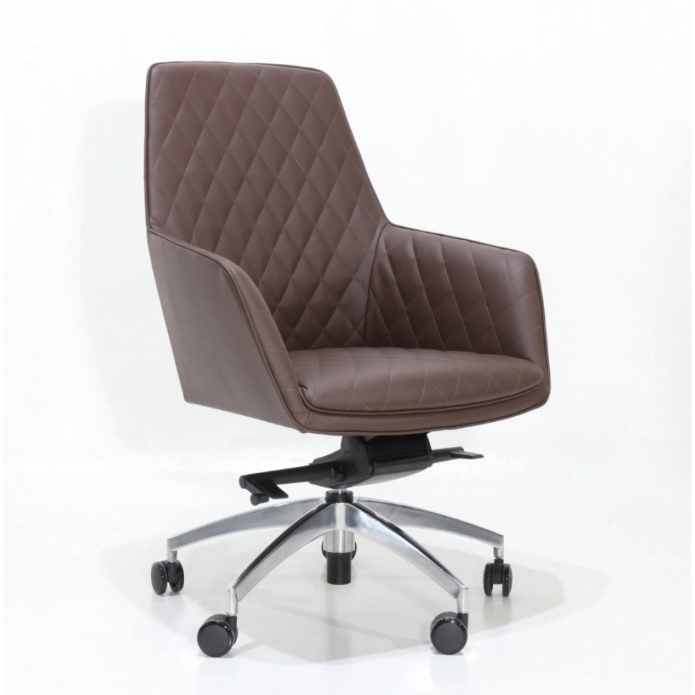 Quilted ANTHEA office armchair - office chair with armrests and quilted padding